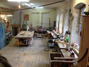 DIe aktuelle Holzwerkstatt (vorderer Teil)