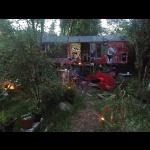 Abendstimmung am Bauwagen - Spätsommer 2014