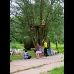 Noch nicht fertig, aber sehr beliebt: Das Baumhaus
